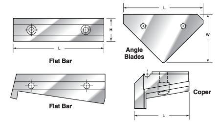 Mubea tooling - shear blades